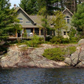 Cottage on rocks