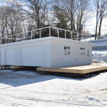 boathouse - muskoka winter